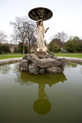 Close up of fountain in Iveagh Gardens Dublin