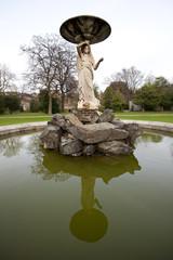 Close up of fountain in Iveagh Gardens Dublin
