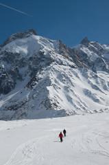 Discesa con gli sci della Vallée Blanche 2