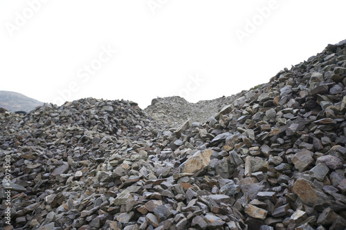 Piles of rocks at a Quarry