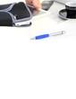 Copyspace mit Tablet PC und Schutztasche