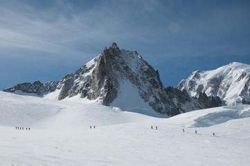 Discesa dal Monte Bianco con gli sci