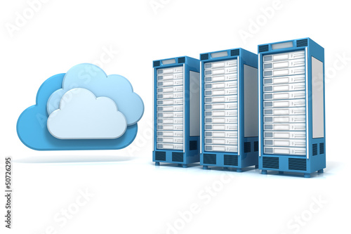 3 Cloud Computing Server blau