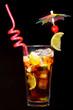Cuba Libre Cocktail on black