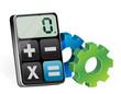 industrial gear and modern calculator