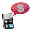 dollar message and modern calculator