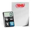 taxes 1040 form and modern calculator i
