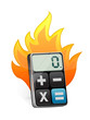 fire and modern calculator