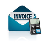invoice and modern calculator poster