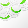 Abstract green paper circles