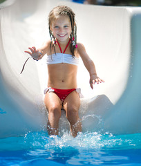 Little girl at aquapark