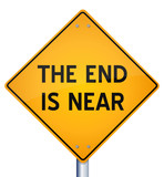 "Vector Design of ""The End is Near"" Road Yellow Warning Sign"