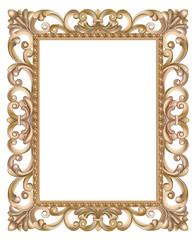Cadre baroque ajouré et doré, de style italien