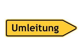 Verkehrszeichen: Umleitungswegweiser