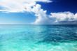 Caribbean sea and sunny day