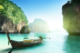 boat on small island in Thailand
