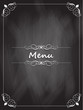 Chalkboard menu design