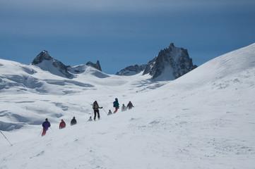 La Vallée Blanche, il grande ghiacciaio del Bianco