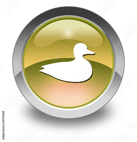 "Yellow Glossy Pictogram ""Duck"""