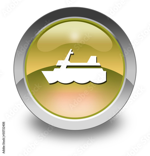 "Yellow Glossy Pictogram ""Cruise Liner"""