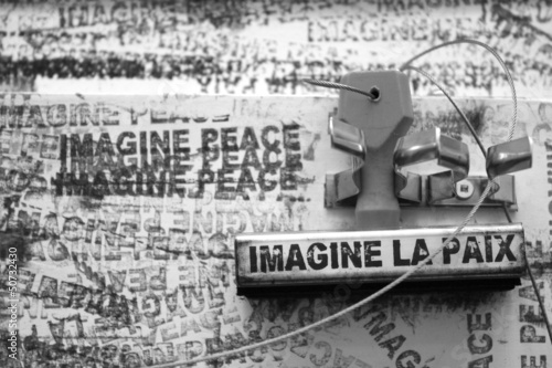 Message Imagine la paix (Imagine peace)