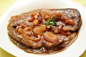 Liver and Onions on Gravy