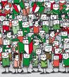 Supporters Italiens en délire qui encourage leur équipe