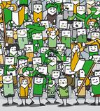 Supporters Irlandais en délire qui encouragent leur équipe poster