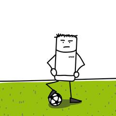 Joueur de football et son maillot SPIKE