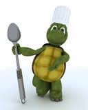 tortoise chef with spoon