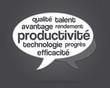 bulle - nuage de mots - productivité