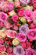 Bridal rose arrangement in various shades of pink