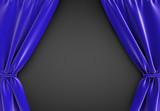 blue curtain