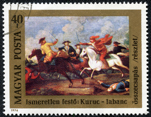 clash between Rakoczi's Kuruts and Hapsburg Soldiers