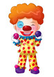 Cute cartoon illustration of a clown