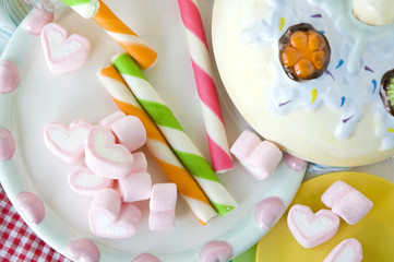 wafer stick and marshmallow