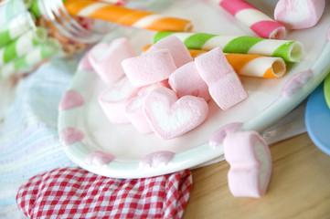 sweet heart marshmallow