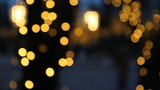Defocused holiday lights.