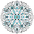 Floral lacy vintage round frame