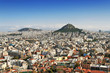 Panorama view of Athens and mount Lycabettus