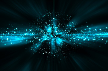 abstract blue star background