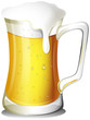 A mug full of cold beer