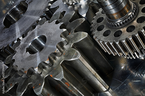 titanium nad steel gears and cogs
