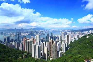 Hong Kong skyline and urban skyscraper