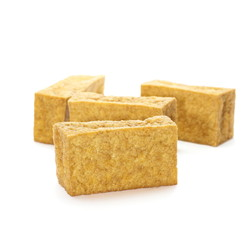 tofu blocks isolated on white