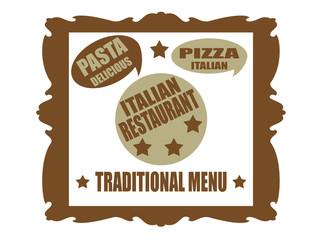 Traditional menu-tag