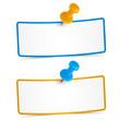 2 kleine Notizzettel mit Pin