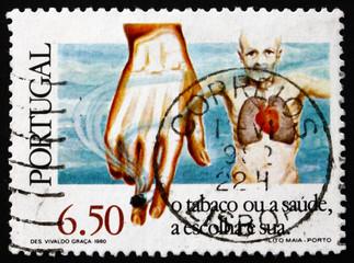 Postage stamp Portugal 1980 Anti-smoking Campaign
