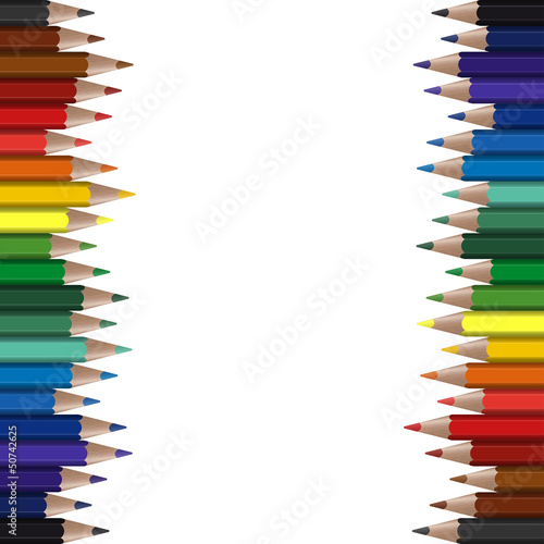 farbige Stifte am Rand endlos