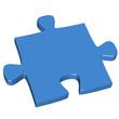 3D Puzzleteil blau